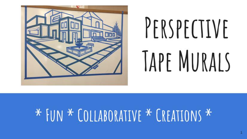Blue Tape Murals
